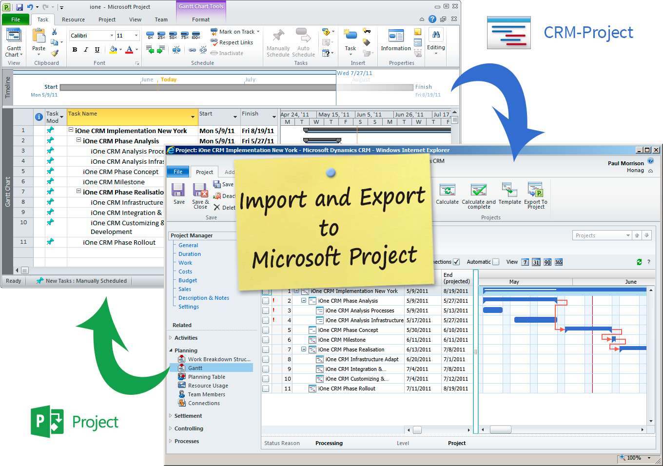 exporting ms project to excel  Mobile Apps with Microsoft Dynamics 365 and Dynamics CRM